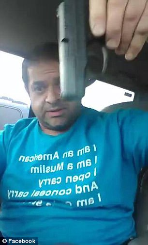 South Dakota resident Ehab Jaber has stirred up a controversy when he went on Facebook Live brandishing an assortment of weapons outside a Christian conference in Sioux Falls.