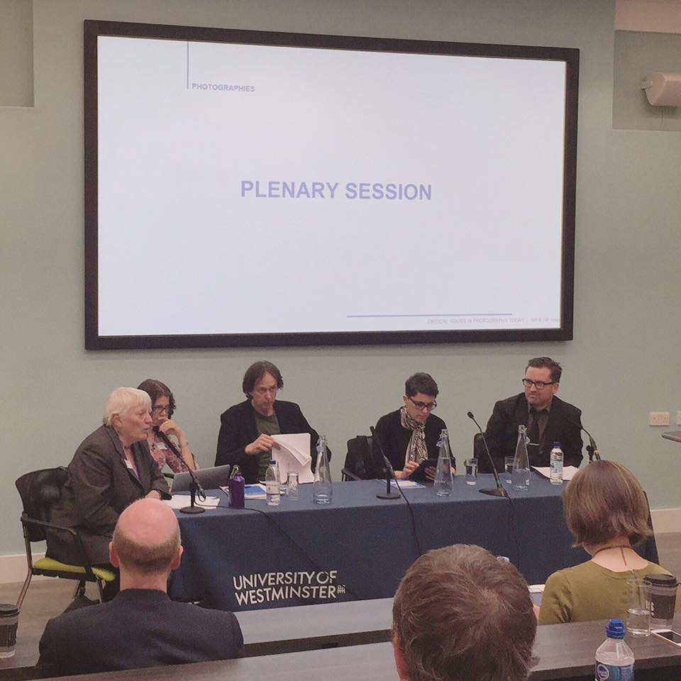 - On May 19, 2017, I spoke with Liz Wells, David Bate, Patrizia Di Bello, and Justin Carville as part of the Round-Table Plenary Session for the photographies conference