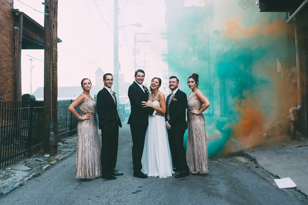 Smoke Bomb wedding pictures