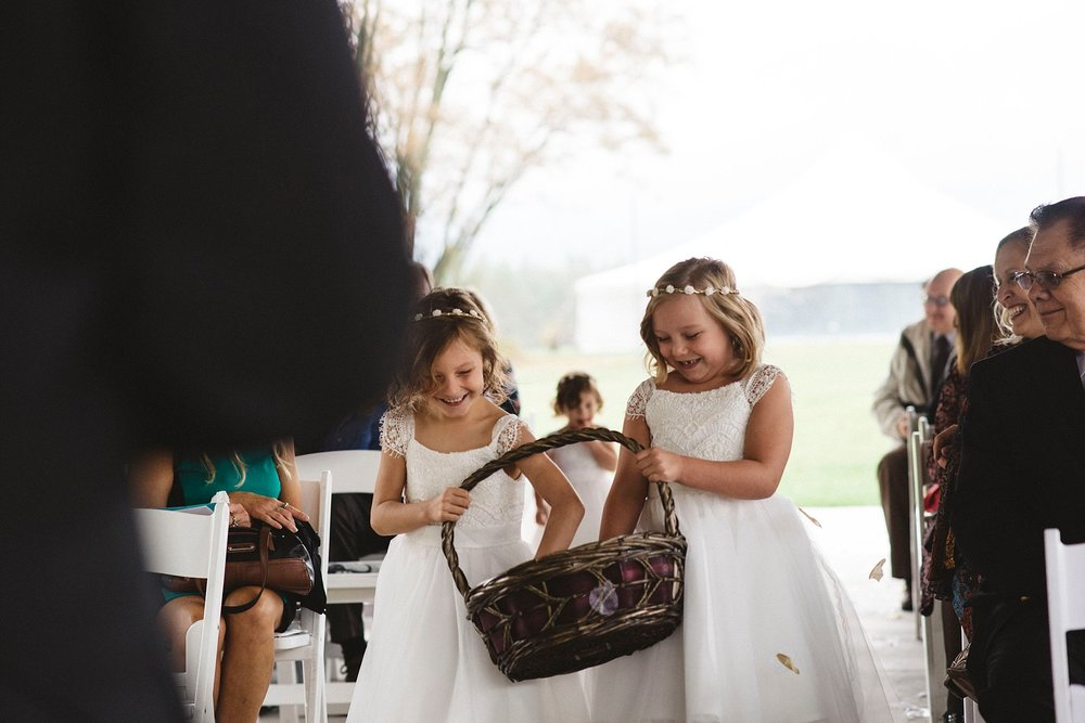 Flower girls - Pittsburgh wedding photography