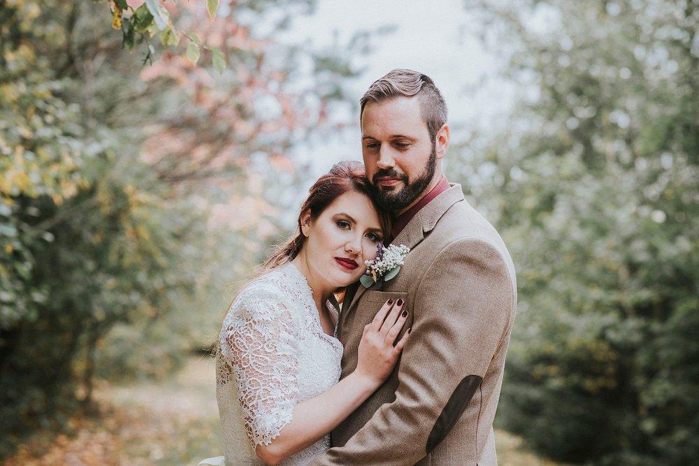 Couple portrait fall