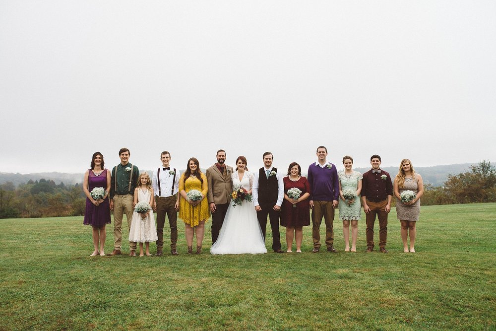 mismatched vintage wedding party Pittsburgh