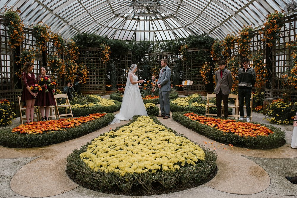 Wedding Broderie room Phipps - Pittsburgh