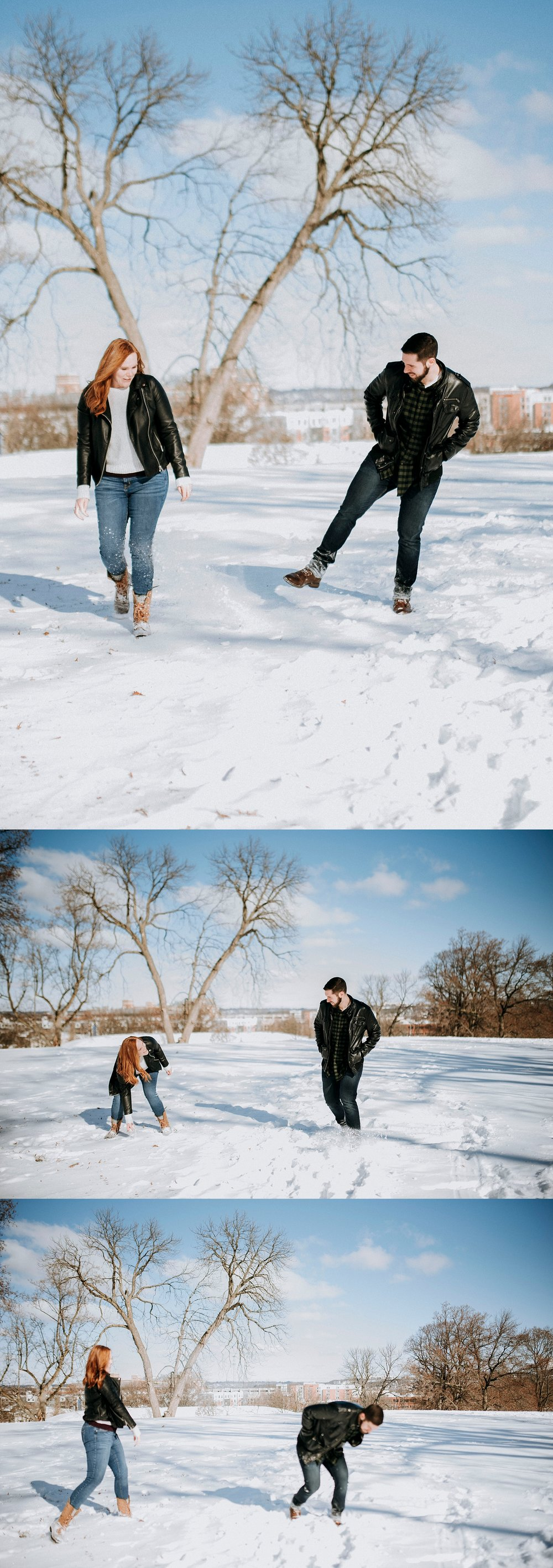 Pictures in the snow - photojournalistic