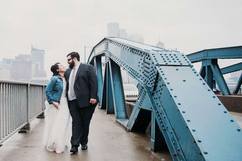 rainy wedding day pittsburgh