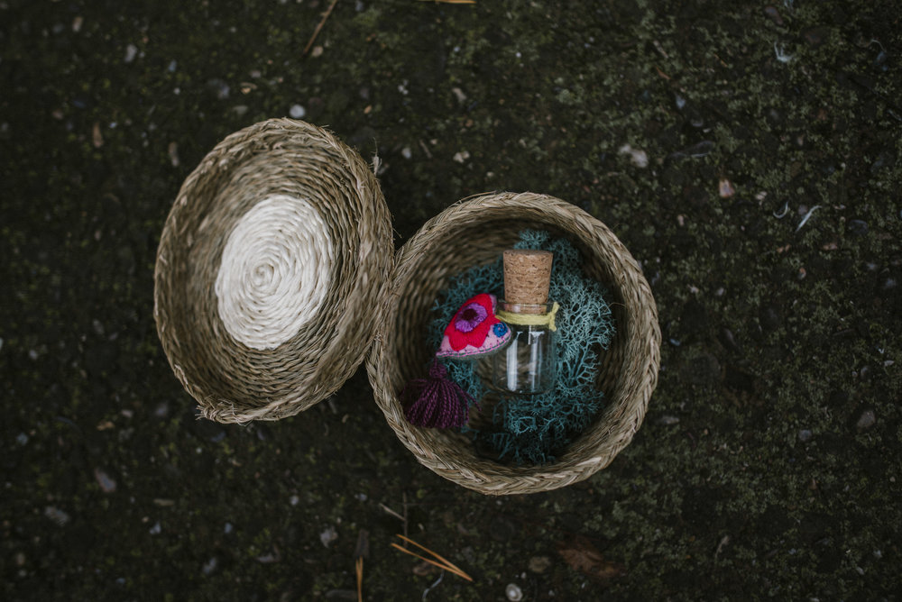 USB comes in an artisan fair trade basket.