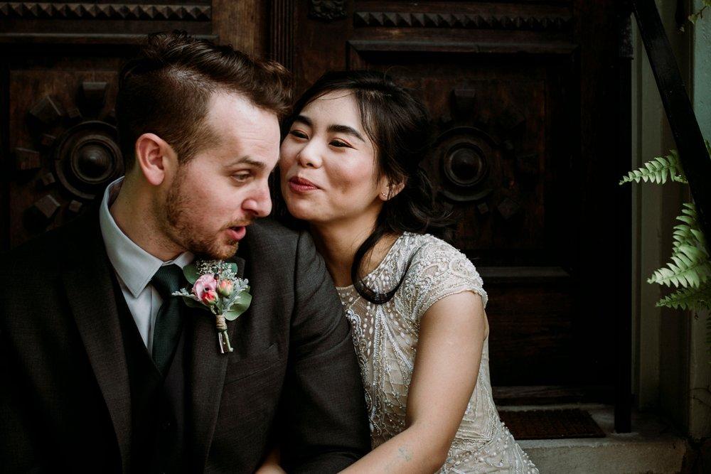 non traditional wedding portrait