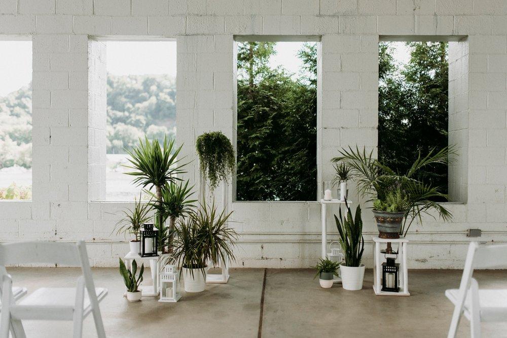 eco friendly wedding backdrop