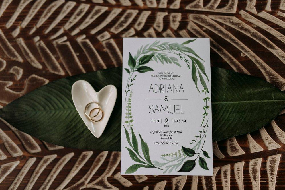 wedding invitation layflat