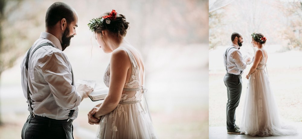 read bible first look wedding