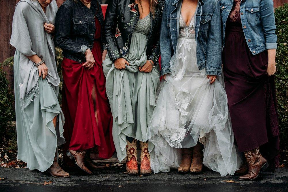 cowboy boots wedding bride