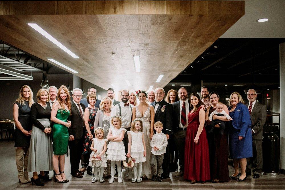 indoor family wedding pictures