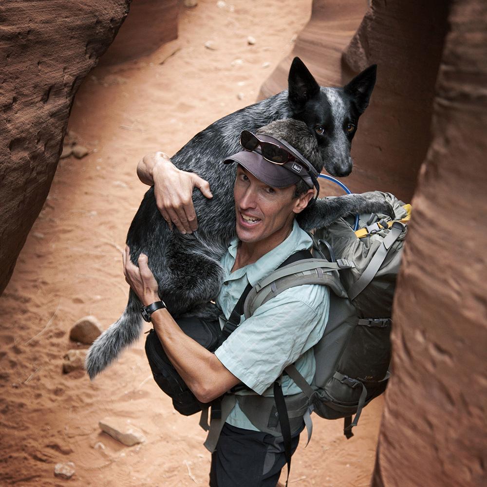 Nicole's husband and dog