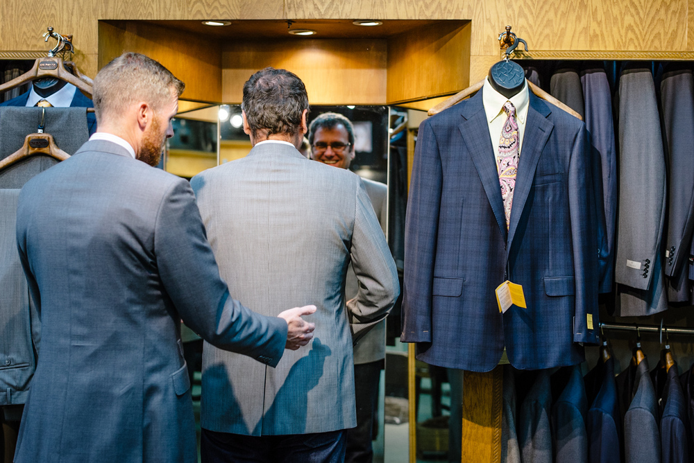Bespoke suits are custom tailored at Utah Woolen Mills
