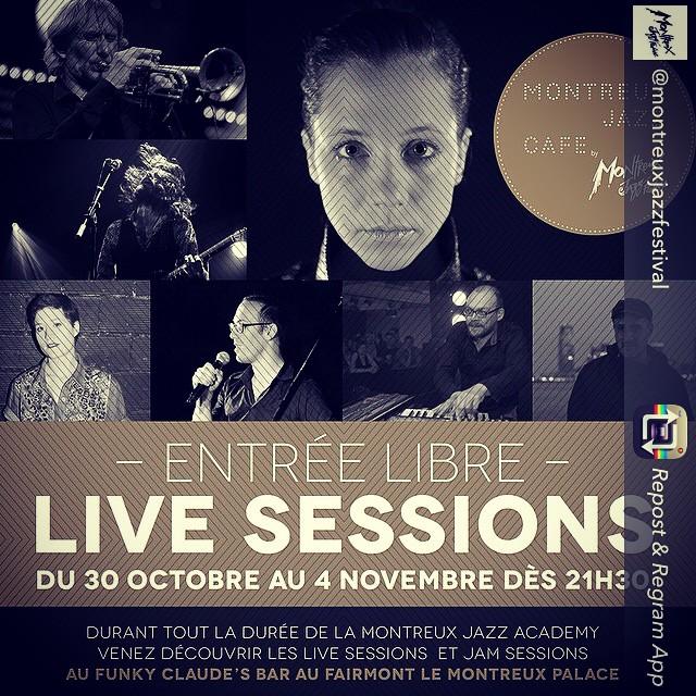 En concert gratuit lundi prochain @funky Claude's bar dans le cadre de la #montreuxjazzacademy à Montreux // infos www.mjaf.ch ❤️