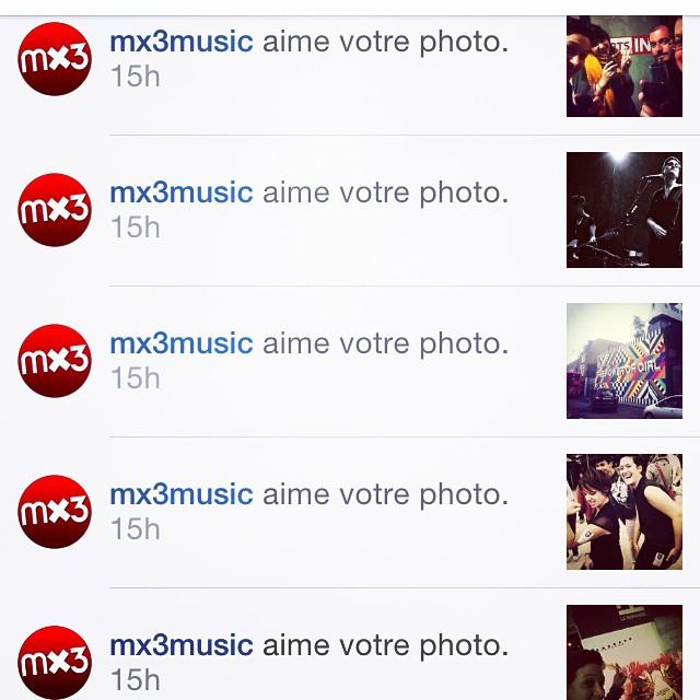 Coucou / merci @mx3music 😁!🌟