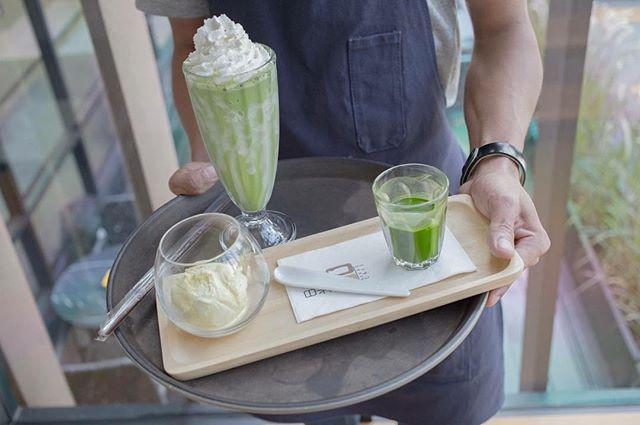 วันพุธสีเขียว แต่ชาเขียว กินได้ทุกวัน~~🍃