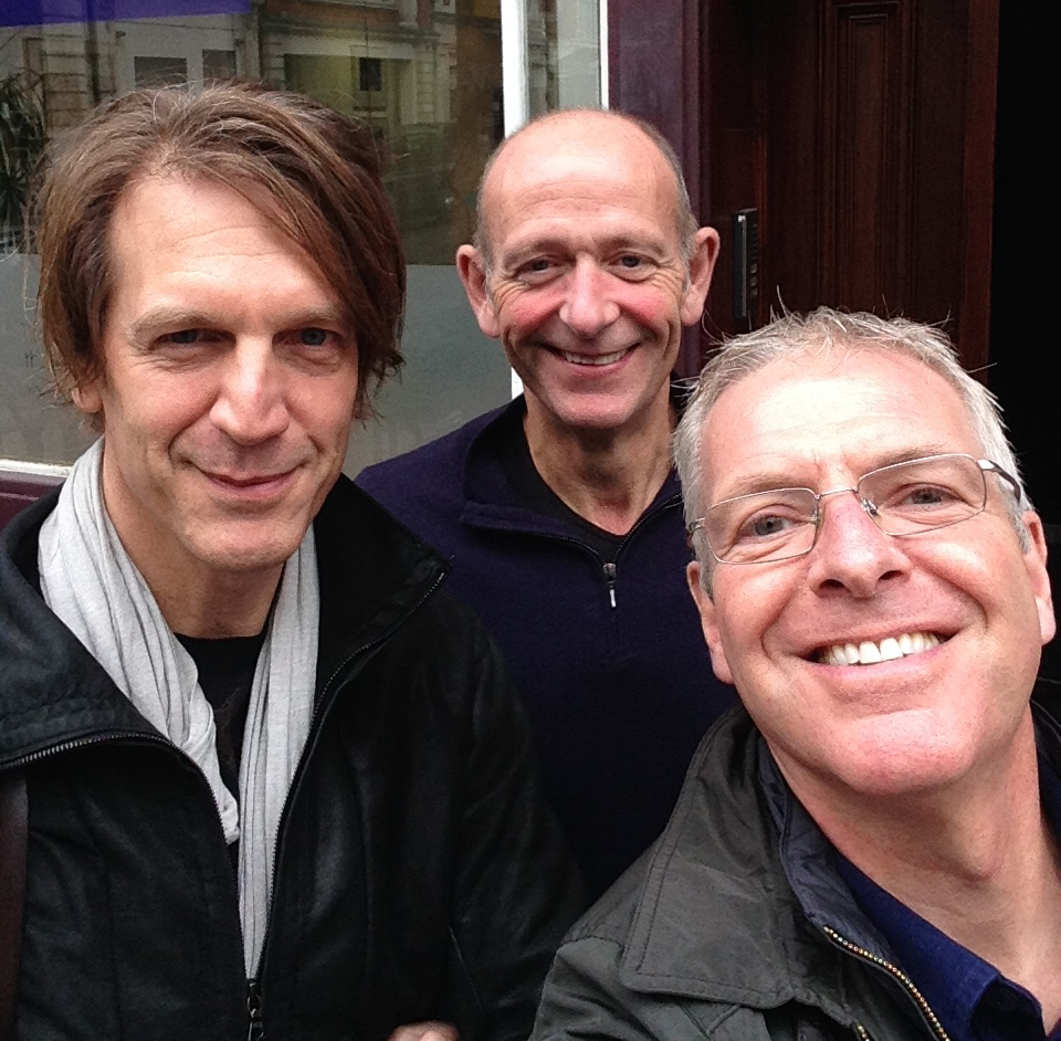 Graham Fink, Paul Arnold and Nick Schon after recording Graham's video