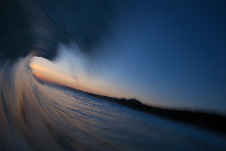 November 8, 2012, 7:43pm: One last barrel before dark ...
