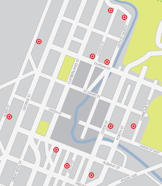 Skip Locations in North Dunedin.