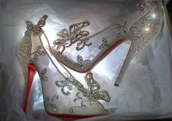 Cinderella Clear Bridal Shoes