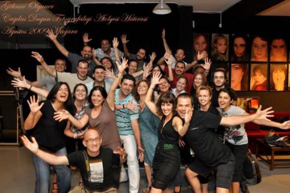 Gigi giving workshops at Muammer Yanmaz Studio in Istanbul