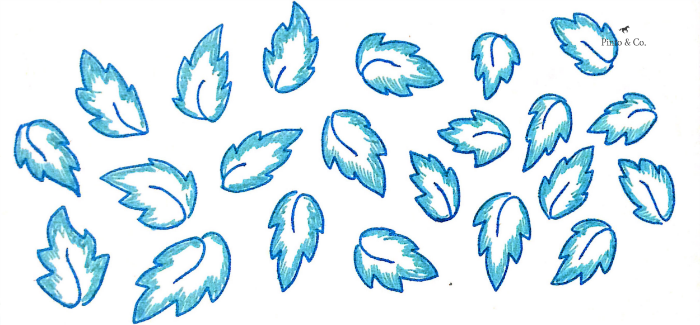 Blue leaves 2013. Pen and ink on acid-free paper.