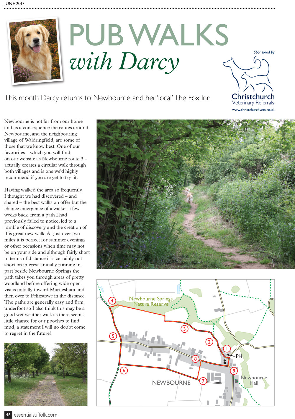 Newbourne Dog Walk route 4 page 1