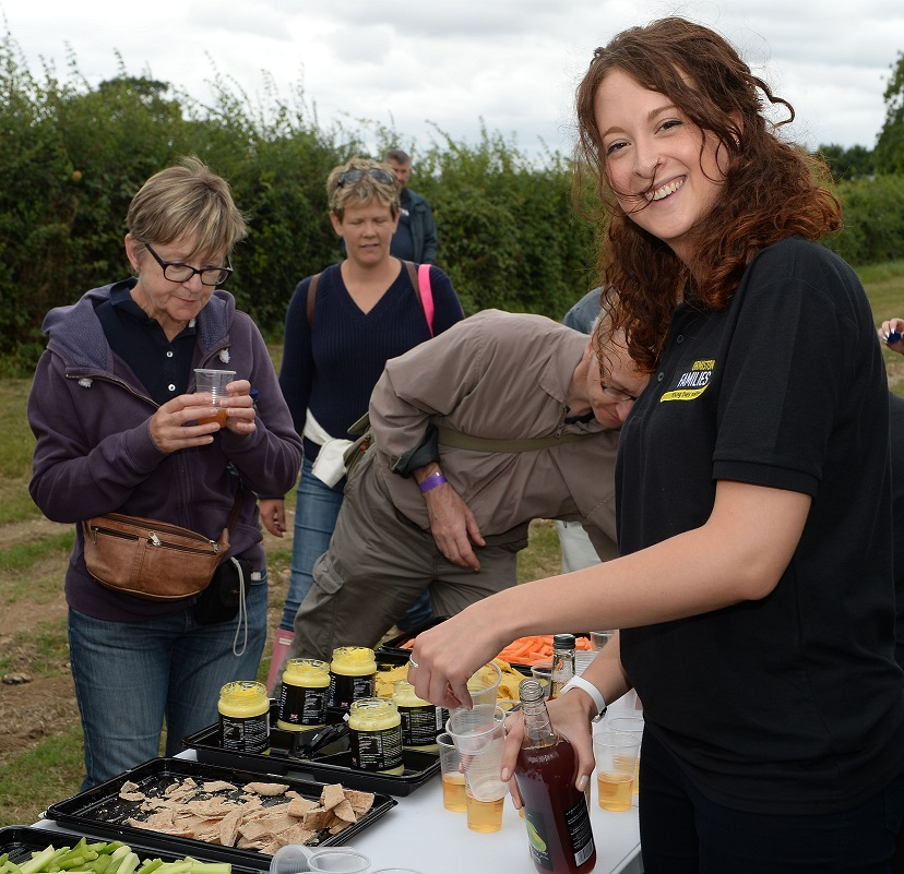 Walkers tasting produce last year at Helmingham Hall