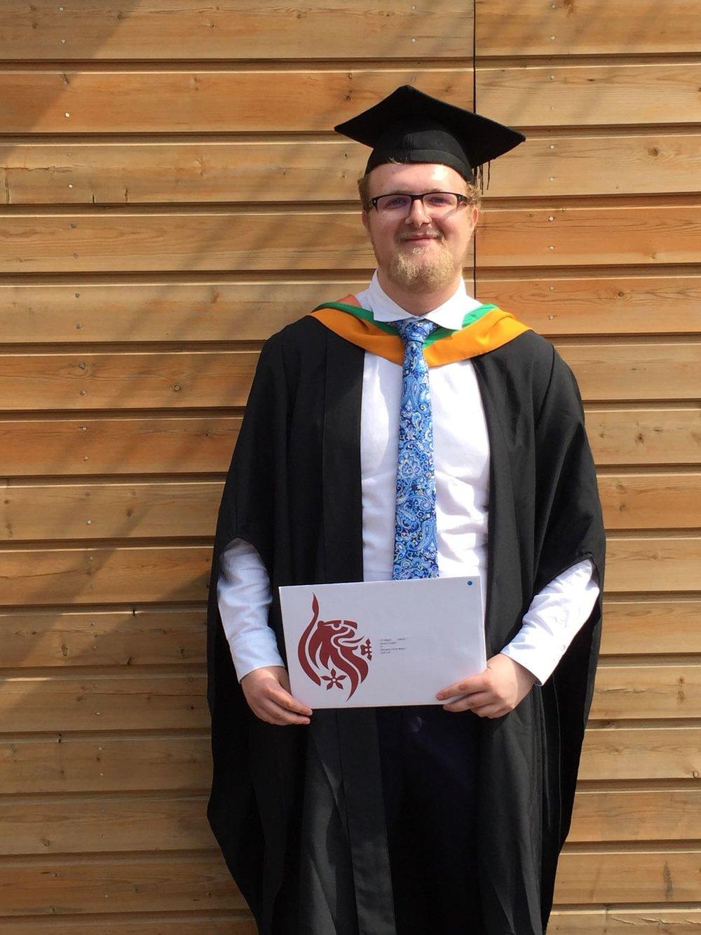 James English at his graduation ceremony.jpg