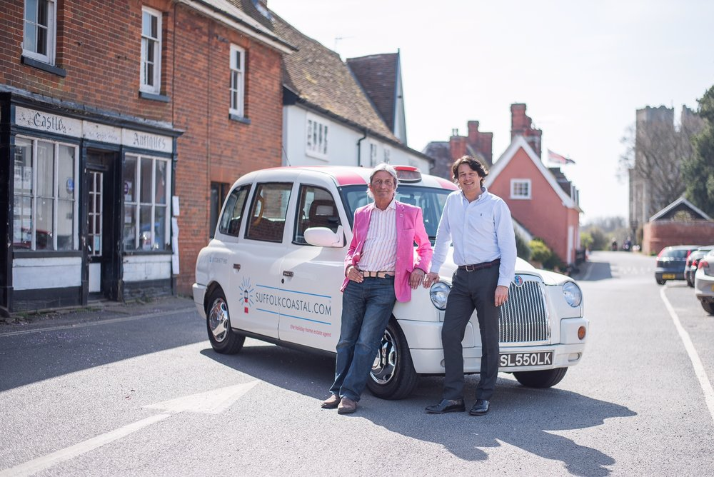 Photo Barry Leach with Tim Day and taxi.jpg