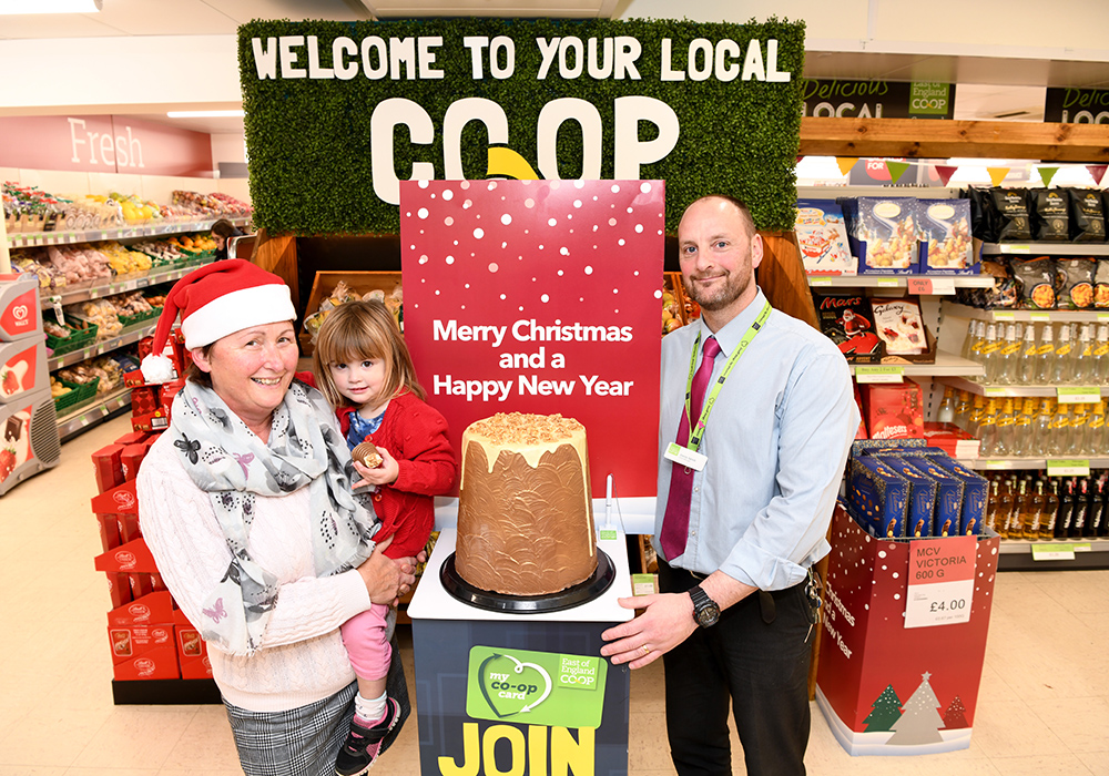 Store Manager Garry Spink with customers in East of England Co-op store in Hadleigh - low res.jpg