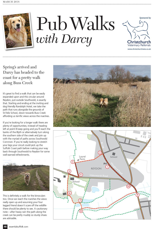 Essential Suffolk Reydon dog walk page 1