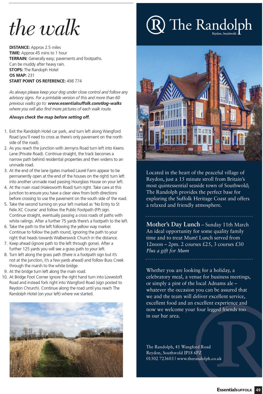 Essential Suffolk  Reydon dog walk page  2
