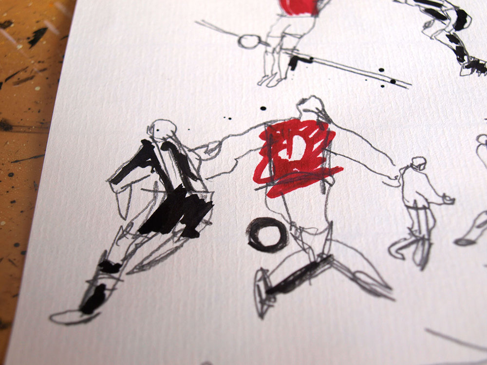 The wonder goal as seen by  illustrator Ben Tallon
