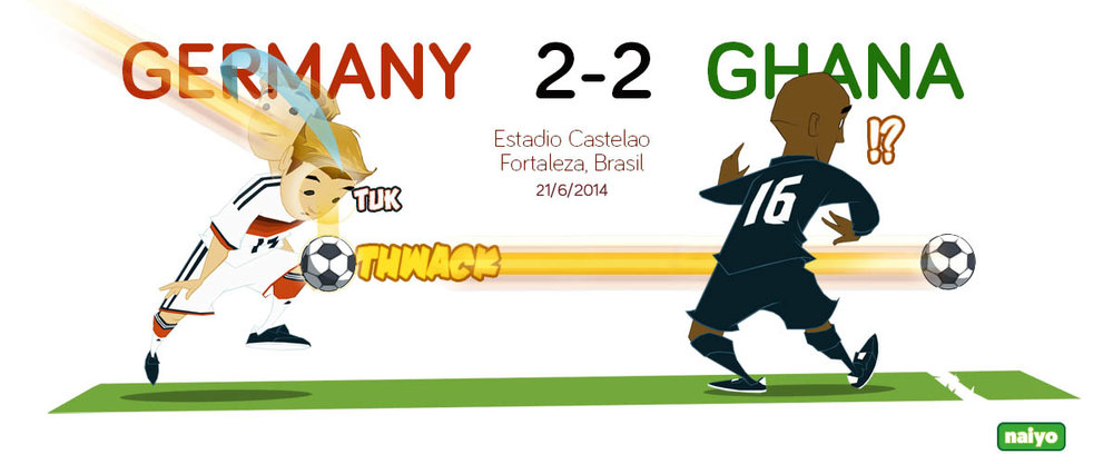 Mario Gotze with the unorthodox goal that gave Germany a 1-0 lead.