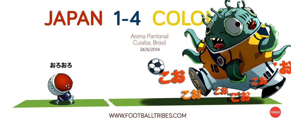 Colombia terrorise Japan in a rampant display.