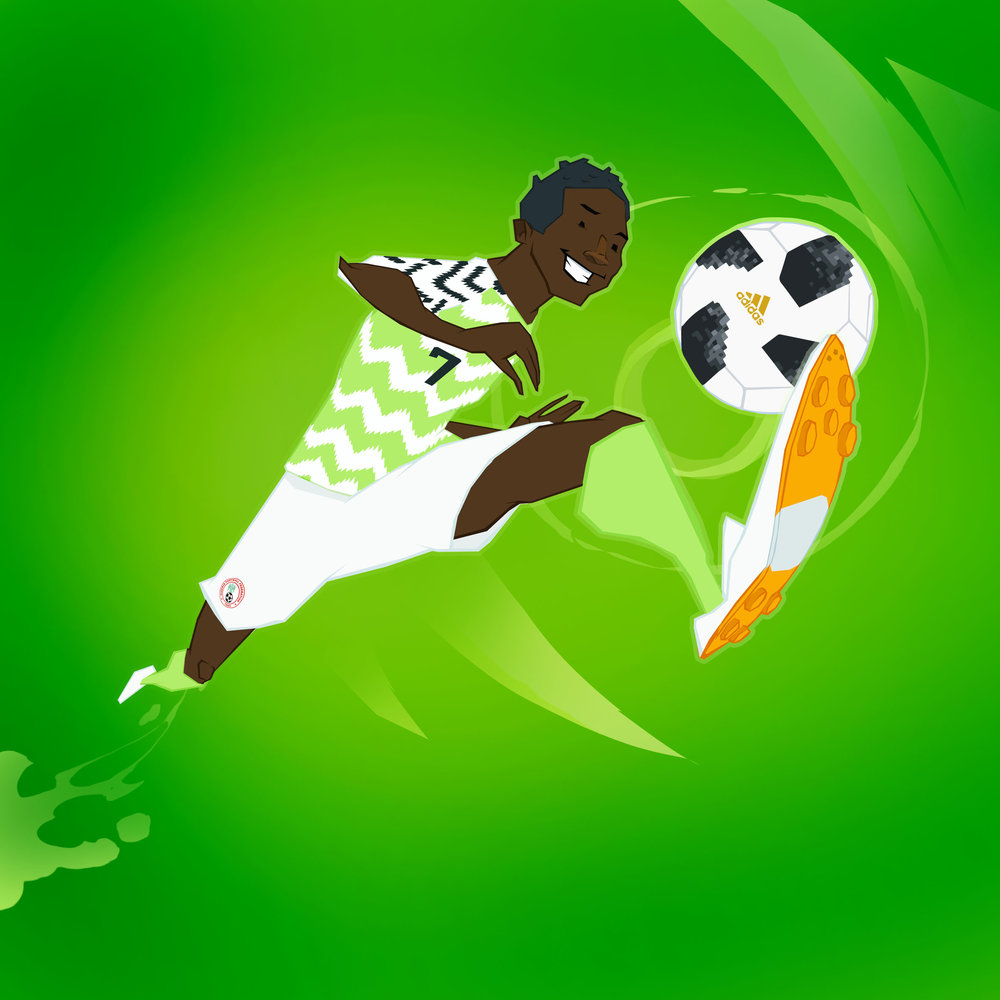 Nigeria caught everyone by surprise with the most popular kit of the tournament - nightmare to draw on a deadline though