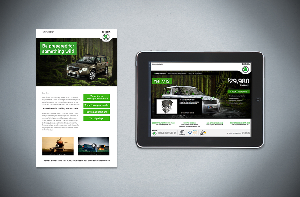Skoda ,  'Be prepared for something wild  '  – eDM and microsite