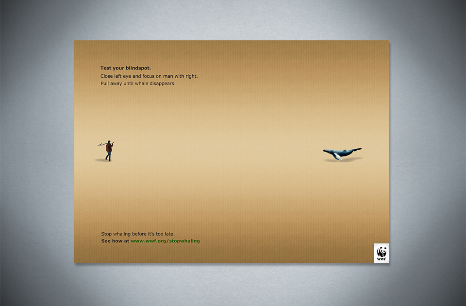 WWF ,  'Blindspot'  – press ad