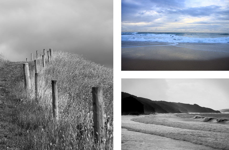 Photography ,  Landscapes  – NZ (L) and Australia (R)