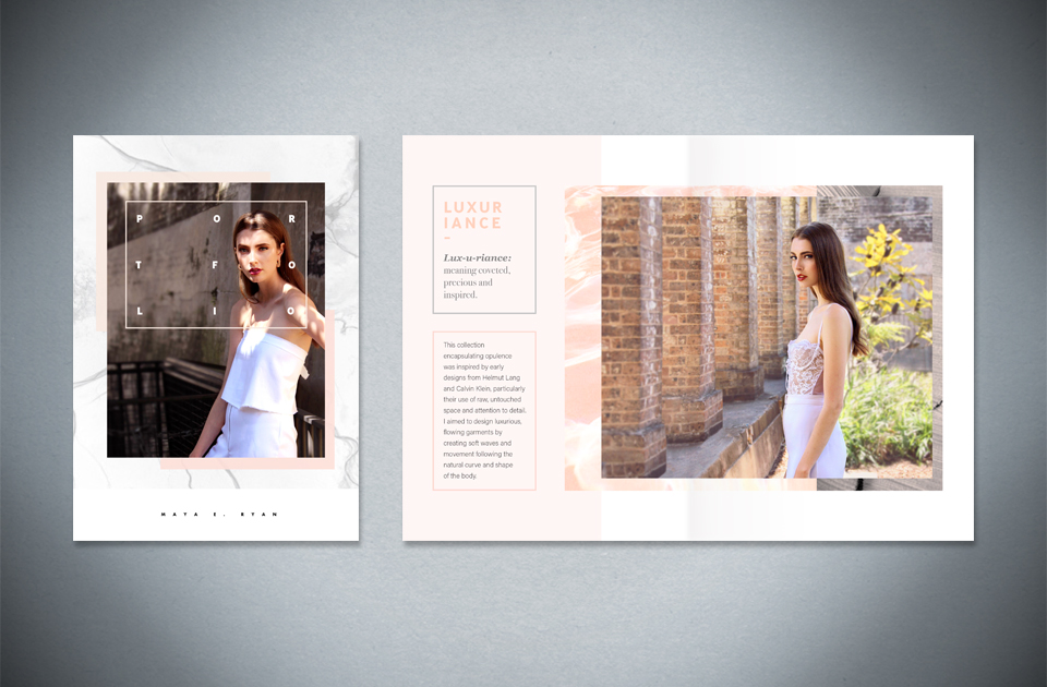 Maya E. Ryan  ,   Fashion portfolio   – booklet