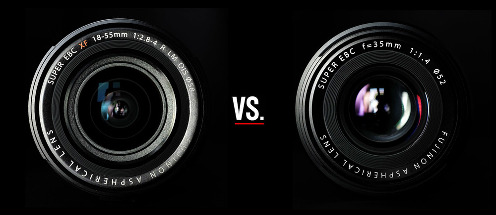 The FUJINON XF 18-55mm ƒ/2.8-4 vs. the FUJINON XF 35mm ƒ/1.4