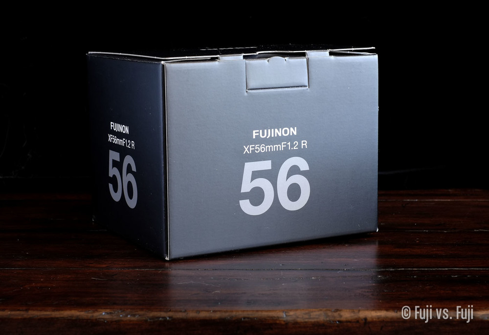The FUJINON XF 56mm f/1.2 new school box design