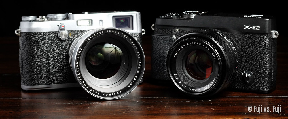 The X100S with TCL-X100 and the X-E2 with 35mm f/1.4