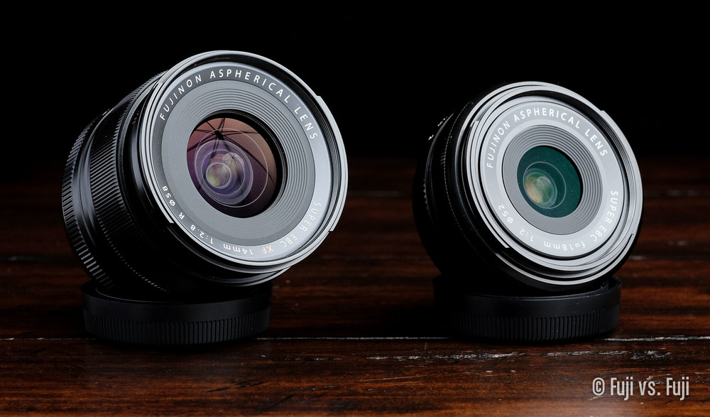 The  FUJINON XF 14mm f/2.8  vs. the  FUJINON XF 18mm f/2 – Can you tell I need a soft box?