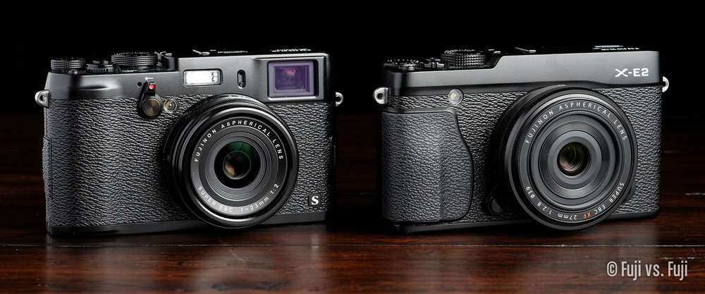 X100S compared to an X-E2 with the 27mm f/2.8 mounted