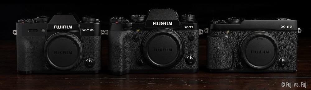 Fuji's X-T10, X-T1, and X-E2