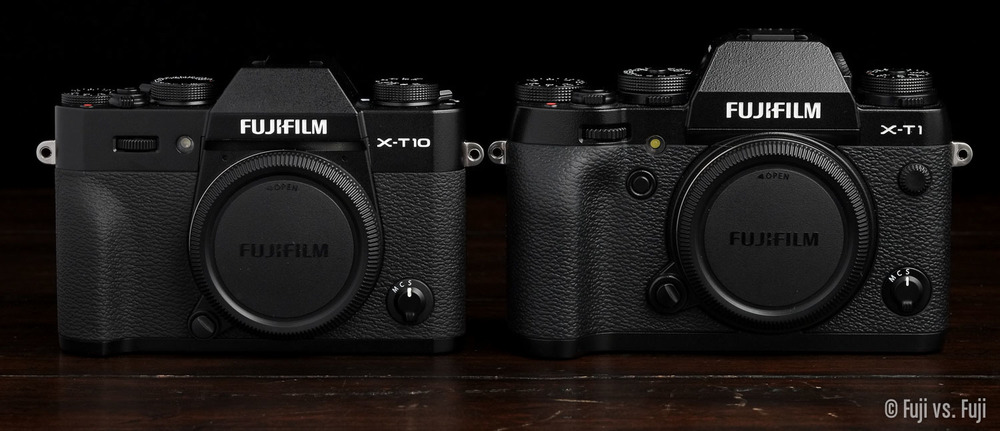 Fuji's X-T10 and X-T1