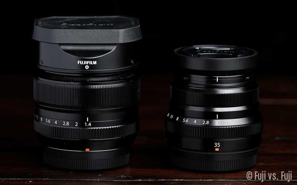 35mm F 1 4 Vs 35mm F 2 Wr Fuji Vs Fuji